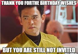 Thank You Birthday Meme - best funny star trek birthday meme happy wishes