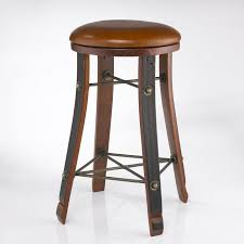 Barrel Bistro Table Oak Barrel Bar Stools Vintage Wine Stool With Leather Seat Decoreven