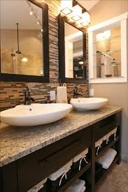glass tile for bathrooms ideas a travertine and glass tile accent wall epic bathroom rev