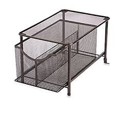 Pull Out Cabinet Shelves by Amazon Com Org Large Under The Sink Mesh Slide Out Cabinet