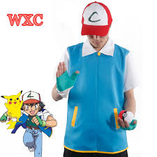 Ash Ketchum Halloween Costume Aliexpress Buy Pokemon Ash Ketchum Trainer Cosplay Costume