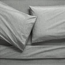 Grey Linen Bedding - modern bedding sheets sets and duvet covers cb2