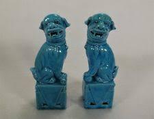 blue foo dogs antique foo dog statues blue figurines ebay