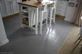 Paint Laminate Flooring Painted Tile Floor Six Months Later Make Do And Diy