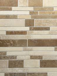 Backsplash Tiles For Kitchens Travertine Subway Mix Backsplash Tile Ivory Beige Brown
