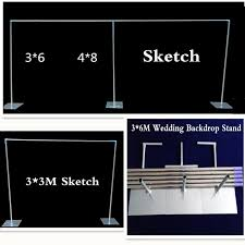 wedding backdrop stand promo wedding backdrop stand with expandable rods backdrop frame