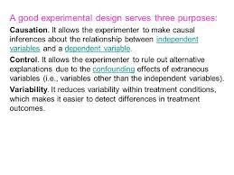 good experimental design experimental design and analysis of variance basic design ppt
