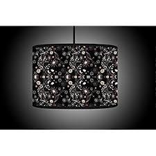 black drum l shade 30cm black gold drum lshade handmade printed fabric floor l