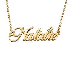 customize necklace 24k gold plated custom name necklace custom made name