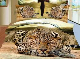Leopard Bed Set Bed In A Bag 3d Duvets And 4 Bedding Sets
