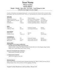 Actor Resume Template Word Resume Templates For Word Free Resume Template And Professional