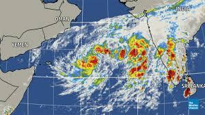 India Weather Map by Tropical Cyclone In The Arabian Sea May Threaten Oman Yemen