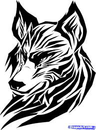 tribal wolf drawings how to draw a tribal wolf tribal wolf