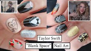taylor swift blank space nail art youtube