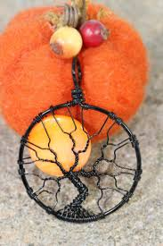 halloween jewelry harvest moon spooky tree of life pendants