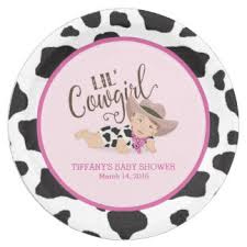 personalize plate pink brown baby shower plates zazzle