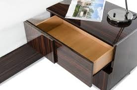 Made In Italy Luxury Bedroom Set Modrest Picasso Italian Modern Ebony Lacquer Bedroom Set