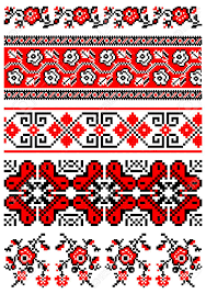 illustrations of ukrainian embroidery ornaments patterns frames