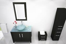 Bathroom Vanities With Vessel Sinks Avola 36 Inch Vessel Sink Bathroom Vanity Glass Top Espresso Finish