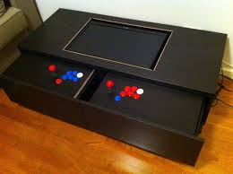 Arcade Room Ideas by Coffee Table Chic Arcade Coffee Table Ideas Interesting Black