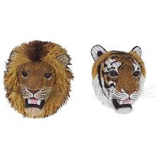 south african beaded glass tiger and lion heads for sale at 1stdibs