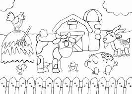 Get This Free Farm Coloring Pages F5w4w Farm Color Page