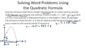 the quadratic formula video algebra ck 12 foundation