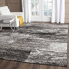 Modern Black Rug Safavieh Adirondack Collection Adr112a Silver And