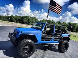 light blue jeep wrangler 2 door 2017 jeep wrangler unlimited rhino custom lifted leather hardtop