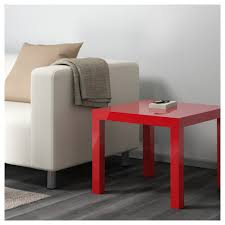 lack side table high gloss red 21 5 8x21 5 8