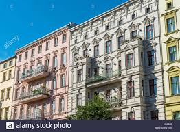 renovated old houses seen at the prenzlauer berg district in