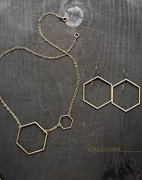 chemist earrings hexagon hoop earrings large honeycomb hoops large