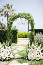 wedding arch greenery real wedding california coastal glam two bright lights