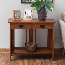 Mission Sofa Table by Belham Living Everett Mission Console Table Hayneedle