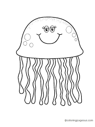 free coloring pages jellyfish jellyfish coloring pages preschool bell rehwoldt com