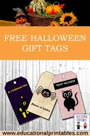 halloween gift tags free halloween gift tags educational printables