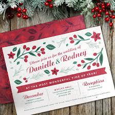 Christmas Wedding Invitations Plantable Christmas Wedding Invitation Plantable Wedding