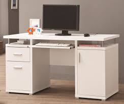 Modern White Office Table White Office Desk With Storage U0026 File Cabinet