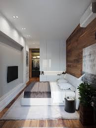 applying a rustic studio apartment design which decor by wooden