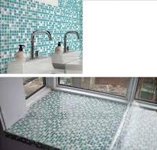 Stone Glass Tile Backsplash by Crackle Glass Mosaic Tile Backsplash Blue Mosaic Stone Tiles Stbl001