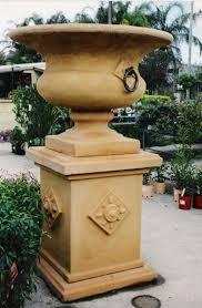 Pedestal Pots Potanico Mediterranean Style Pedestal Pots And Planters