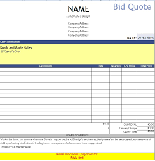 Microsoft Excel Quote Template Quotation Templates Quote Templates