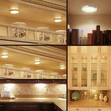 lighting under cabinet 3 deluxe led kitchen light kit 510lm warm white puck lights le