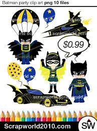 batman boy baloon batgirl superhero images clipart