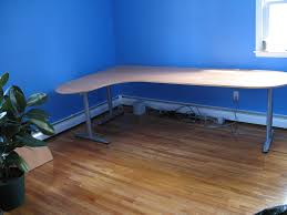 furniture interesting dark ikea galant desk with swing arm lamp