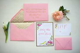pink wedding invitations gold and pink wedding invitations elizabeth designs the