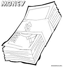 money coloring pages coloring pages to download and print