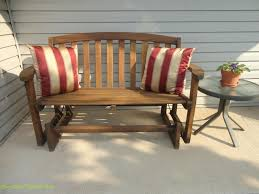 furniture white vintage wooden porch glider with many cushion
