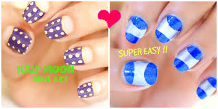 2 easy and half moon nail designs