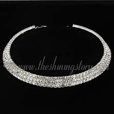 prom necklace formal wedding bridal prom rhinestone choker necklaces wholesale